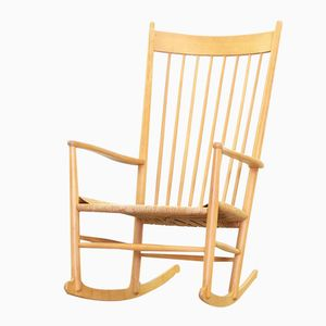 Danish Model J16 Rocking Chair by Hans J. Wegner for FDB Møbler, 1950s