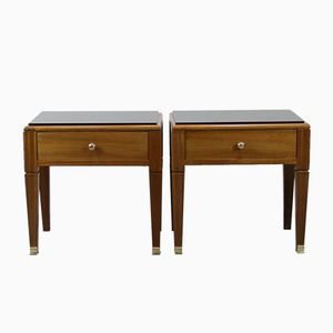 Vintage French Night Stands, 1940s, Set of 2