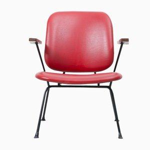 Roter Armlehnstuhl von W.H. Gispen für Kembo, 1954