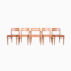 Chaises par Henry W. Klein pour Bramin Mobler, Danemark, 1960s, set de 5