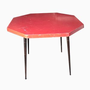 Red Hexagonal Bistro Table