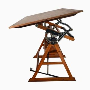 Italian Industrial Drawing Table by Linear, 1940s