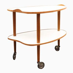Resopal and Beech Serving Trolley, 1950s
