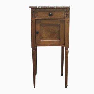 Table de Chevet Art Nouveau Vintage avec Dessus en Marbre, Allemagne