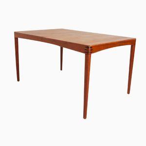 Danish Teak Extendible Dining Table by Henry Walter Klein for Bramin, 1960s