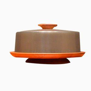Dänische Kuchenplatte aus Teakholz & Kunststoff von Lüthje Wood, 1960er