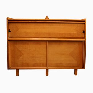 Oak Secretaire from Guillerme & Chambron, 1960s