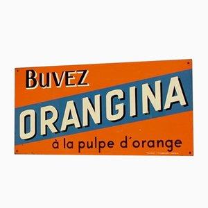 Panneau Publicitaire Orangina Vintage, France