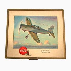 Affiche Publicitaire Coca-Cola Vultee Airplane,1940