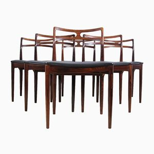 Model 94 Dining Chairs by Johannes Andersen for Christian Linneberg Denmark, 1961, Set of 6