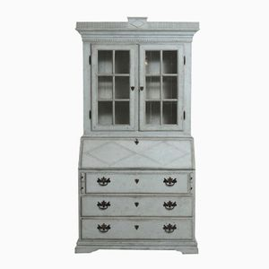 Antique Gustavian Style Two-Part Secretaire
