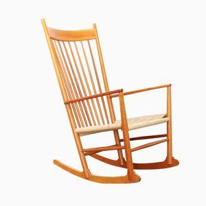 Chaise à Bascule J16 Vintage par Hans J.Wegner pour Kvist Møbler, Allemagne
