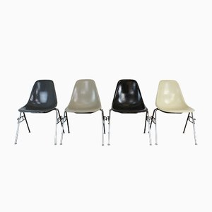 American DSS Stacking Side Chairs by Charles Eames for Herman Miller, 1960s, Set of 4