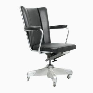 Dutch Model 357 PQ President Desk Chair by Ch. Hoffmann for Gispen, 1950s