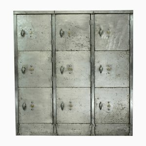 Vintage Nine Compartment Steel Locker
