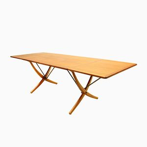 Danish Sabre-Leg Model AT-304 Dining Table by Hans J. Wegner for Andreas Tuck, 1950s