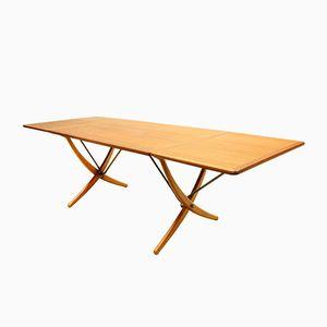 Danish Sabre-Leg Model AT-304 Dining Table by Hans J. Wegner for Andreas Tuck, 1950s
