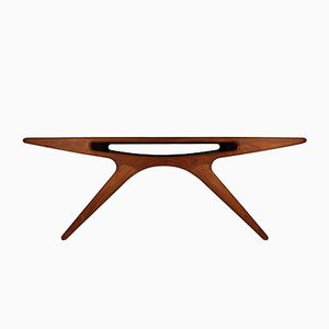 Danish Smile Teak Coffee Table by Johannes Andersen for CFC Silkeborg, 1957