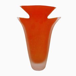 Murano Glasvase Arancio von Carlo Moretti für Rosenthal, 1960er