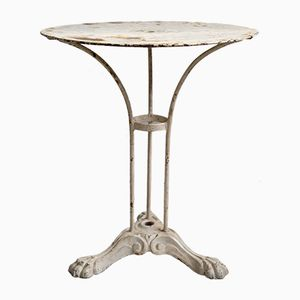 Antique French Cast Iron Bistro Table, 1870s