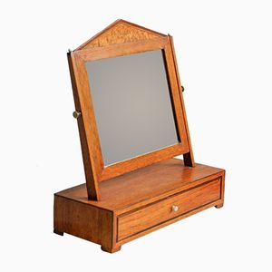 Antiker Schwenkbarer Biedermeier Tischspiegel, 1820er