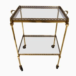 Mid-Century French Bronze Drinks Trolley