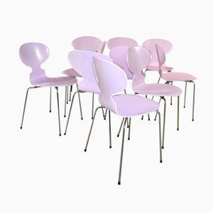 Rosa Ant Stühle von Arne Jacobsen für Fritz Hansen, 1970er, 6er Set