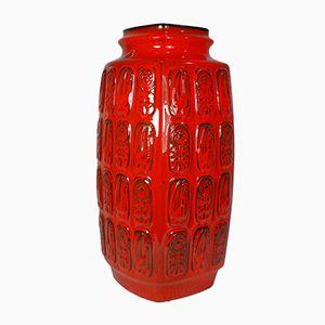 German Red Floor Vase from Bay Keramik, 1960s
