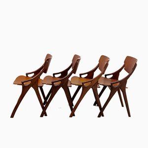 Chaises de Salon en Teck par Arne Hovmand Olsen pour Mogens Kold, Set de 4