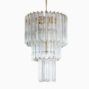 Italian Murano Glass Chandelier by Paolo Venini for Venini, 1960s