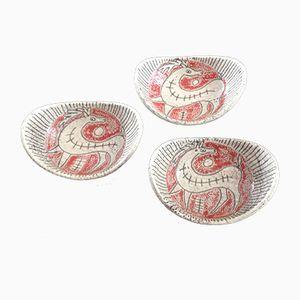 Italienische Schalen aus Keramik von Fratelli Fanciullacci, 3er Set