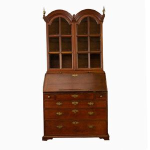 Antique Oak Double Dome Secretaire