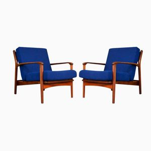 Mid-Century Afromosia Armchairs from Greaves & Thomas, Set of 2