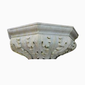 Large Carved Acanthus Leaves Marble Bowl