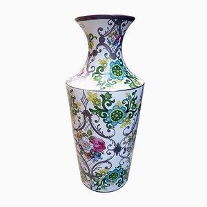 Große Florale Porzellan Vase von Bohemia JN Barcelona, 1970er