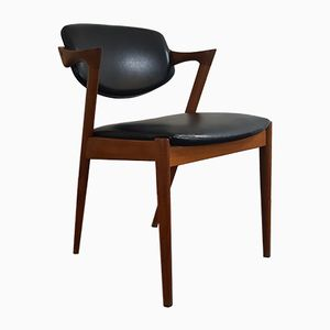Chaise d'Appoint Modèle 42 par Kai Kristiansen pour Schou Andersen, 1960s