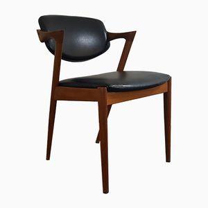 Model 42 Teak Side Chair by Kai Kristiansen for Schou Andersen, 1960s