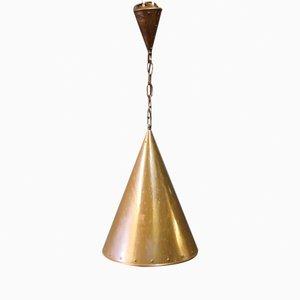 Lampe Vintage en Cuivre, Danemark, 1970s