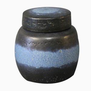 Gefäß aus Keramik mit Deckel von Axel Brüel für Nymølle, 1980er