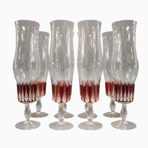 Vintage Champagne Flutes, 1960s, Set of 8