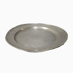 Danish Large Round Tin Dish, 1960s