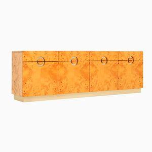 Italian Burl Wood Sideboard, 1970s