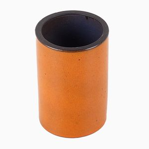 Small Orange Ceramic Vase