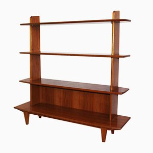 American Walnut Freestanding Shelving Unit, 1970s