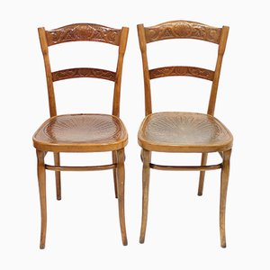 Österreichische Vintage Stühle von J. J Kohn, 2er Set