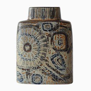 Braune Mid-Century Vase von Nils Thorsson für Royal Copenhagen
