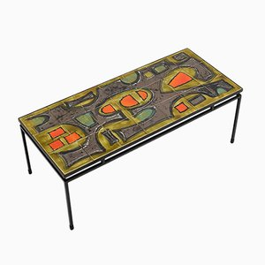 Handpainted Ceramic Coffee Table by Juliette Belarti