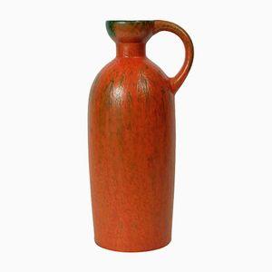 Volcano Orange and Green Glaze Vase from Ruscha