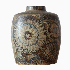Dänische Vase in Braun von Nils Thorsson für Royal Copenhagen, 1970er