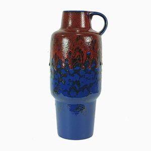 German Fat Lava Glaze Vase, 1960s